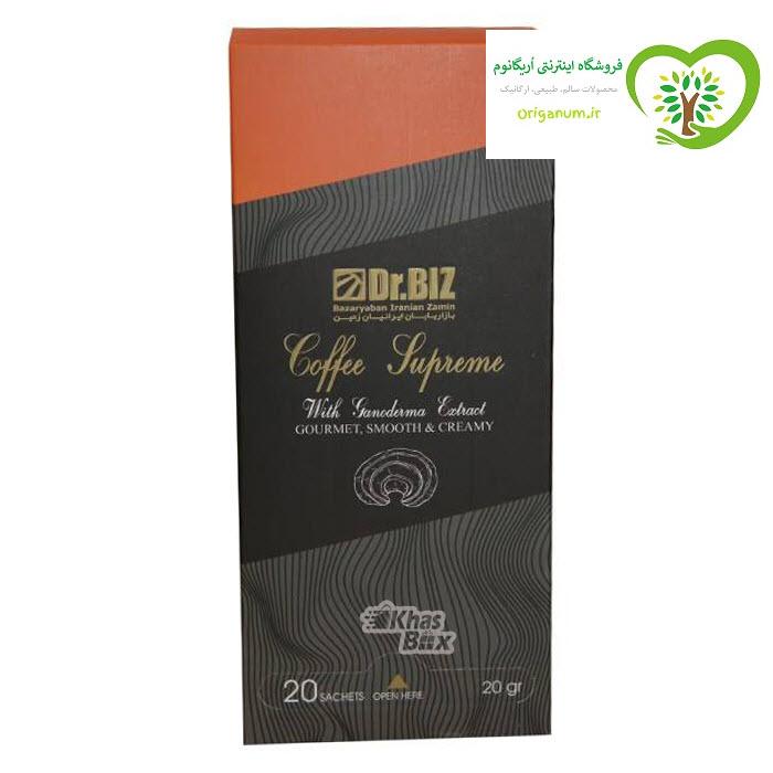 پک 2 بسته ای قهوه فوری سوپریم دکتر بیز_ قارچ گانودرما و جینسینگ 20 عددی