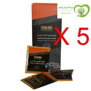 پک 5 بسته ای قهوه سوپریم گانودرما جینسینگ اریگانوم