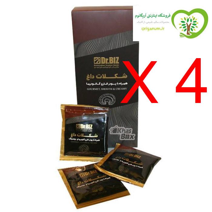 پک 4 بسته ای هات چاکلت (شکلات داغ) دکتر بیز _ قارچ گانودرما  20 عددی