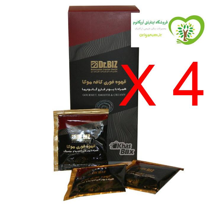 پک 4 بسته ای قهوه فوری موکا دکتر بیز_ همراه با قارچ گانودرما 20 عددی