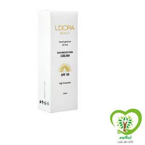 کرم ضد آفتاب بدون رنگ و فاقد چربی SPF50 لدورا -100میلی لیتر