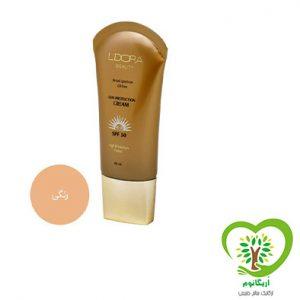 کرم ضد آفتاب رنگی و فاقد چربی SPF50 لدورا -50میلی لیتر