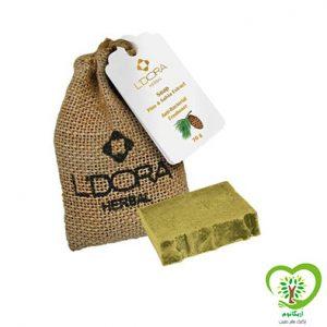 صابون گیاهی لدورا هربال حاوی عصاره کاج و گیاه مریم گلی -70 گرمی