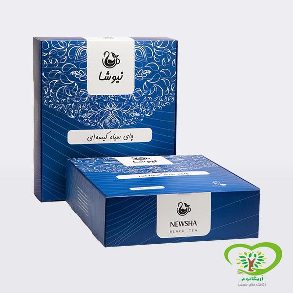 چای خالص کیسه ای لفاف دار نیوشا (160عددی)